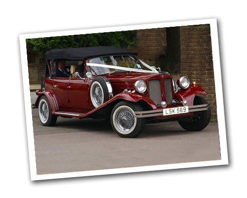4 door Beauford wedding car for hire